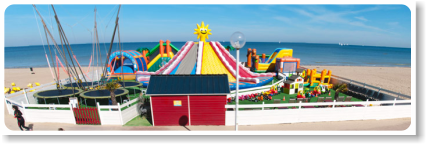 parc attraction plage gonflables calvados normandie
