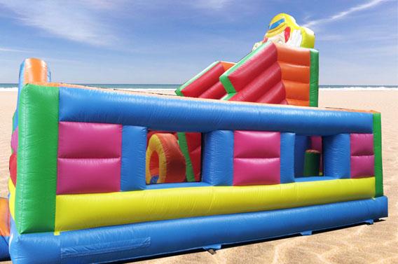 location structure gonflable jeux plage normandie